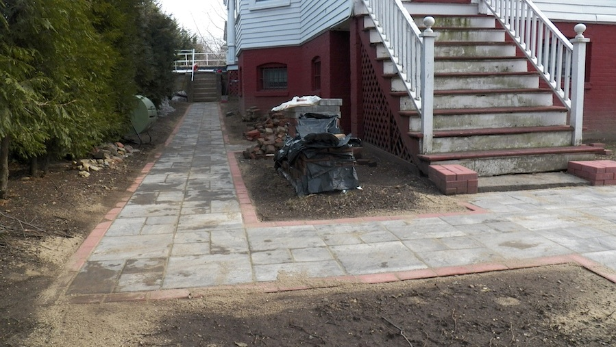 pave walkway and patio