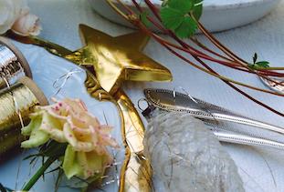 golden christmas star rose pov