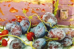 red grapes rote trauben pov